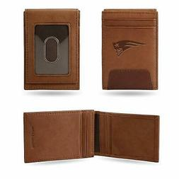New England Patriots - NFL - Brown Leather Money Clip Front