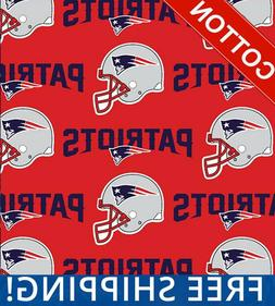"""New England Patriots NFL Cotton Fabric - 60"""" Wide - Style# 6"""