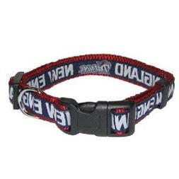 New England Patriots NFL dog pet collars single-sided