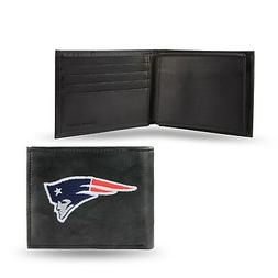 new england patriots nfl embroidered leather billfold