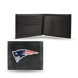 New England Patriots NFL Embroidered Leather Billfold Bi-fol