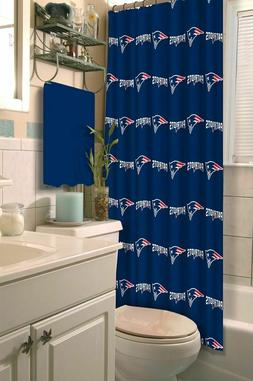NEW ENGLAND PATRIOTS NFL FABRIC SHOWER CURTAIN  NEW IN PACKA