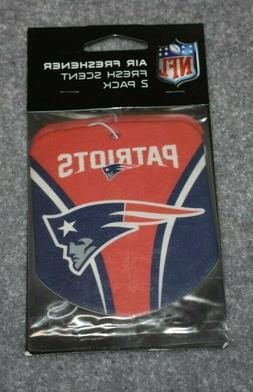 NEW ENGLAND PATRIOTS NFL FOOTBALL 2-PACK AIR FRESHENER FRESH