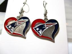 New England Patriots NFL Football Sports Heart Shaped Dangle