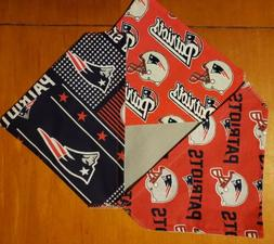 NEW ENGLAND PATRIOTS NFL HOMEMADE 2 SIDED DOG SCARF