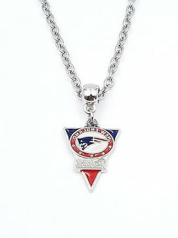 New England Patriots NFL Pendant Logo Charm Silver Link Neck