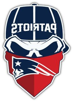 New England Patriots NFL Sport Skull Logo Car Bumper Sticker