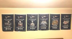 New England Patriots NFL Super Bowl Champions 6 Banner Set 6