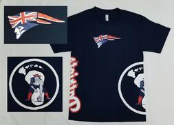 New England Patriots NFL T Shirt SMALL Blue HAWAIIAN Flag Po