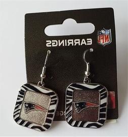 New England Patriots NFL Team Color Zebra Stripes Silver Dan