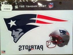 New England Patriots Official NFL Team Magnet Set of three