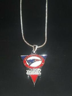 New England Patriots Pendant Necklace Sterling Silver Chain