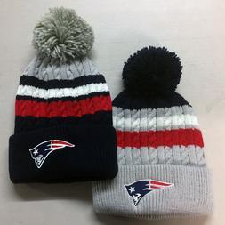 New England Patriots Pom Pom Beanie Skull Cap Hat Embroidere