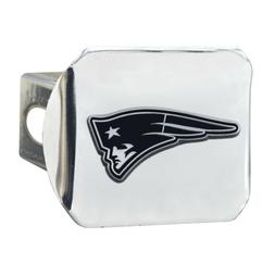 New England Patriots Premium Metal Chrome Hitch Cover Bumper