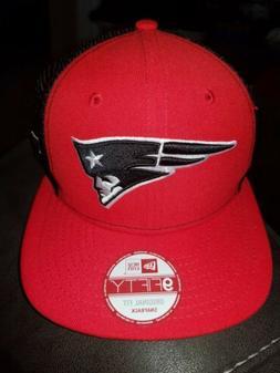 New Era New England Patriots Red snapback Trucker 9TWENTY Ad