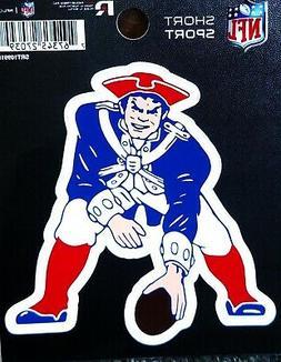 "New England Patriots RETRO 3"" Flat Die Cut Decal Bumper Stic"
