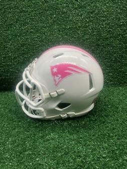 New England Patriots Riddell Speed CUSTOM Breast Cancer Awar