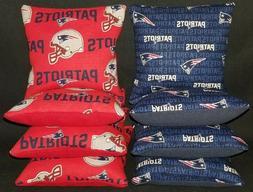 New England Patriots Set of 8 Cornhole Bean Bags FREE SHIPPI