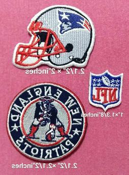 New England Patriots set3pcs Football NFL Sport Patch for ir