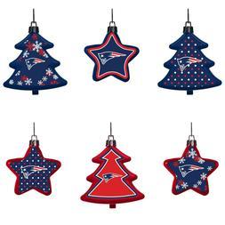 New England Patriots Shatterproof TREES & STARS Christmas Tr