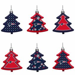 New England Patriots Shatterproof TREES Holiday Christmas Or