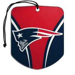 New England Patriots Shield Design Air Freshener 2 Pack  Fre