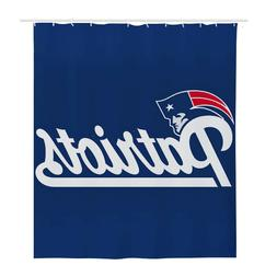 """New England Patriots Shower Curtain 72"""" x 72"""" Waterproof Cur"""
