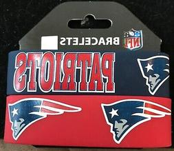 NEW ENGLAND PATRIOTS SILICONE WRIST BANDS BRACELETS NEW 2 PA