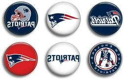 New England Patriots six 1 inch button sport pin badge footb