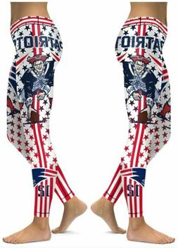 New England Patriots Small to 2X-Large Women's Leggings
