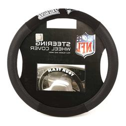 New England Patriots Steering Wheel Cover Poly Mesh Suede  U