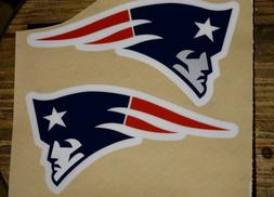 """New England Patriots """"Style"""" Full Size Helmet Decals-Sil"""
