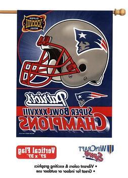 New England Patriots Super Bowl 38 NFL Champions Vertical Fl