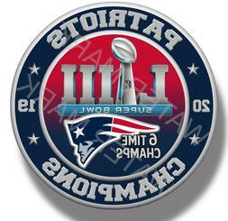 New England Patriots Super Bowl 53 2019 Champions, Sticker D