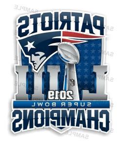 New England Patriots Super Bowl 53 Champions Decal / Sticker