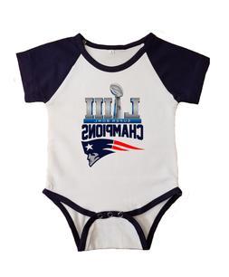 New England Patriots Super Bowl Champions Baby Short Sleeve