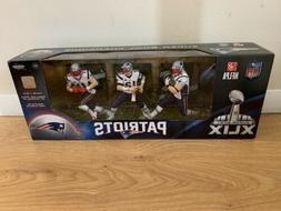 New England Patriots Super Bowl Champions XLIX 3 Figure Pack