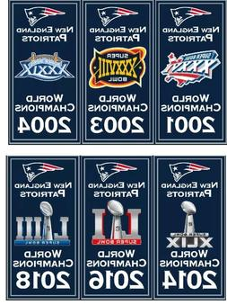 "New England Patriots Super Bowl World Champions 14"" x 8.5"" B"