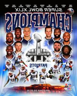 New England Patriots SUPER BOWL XLIX CHAMPIONSHIP 8X10 TEAM