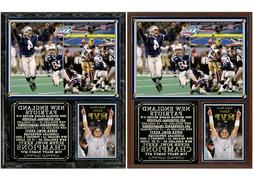 New England Patriots Super Bowl XXXVI Champions Photo Plaque