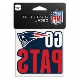 "New England Patriots Team Slogan 4""x4"" Car Decal  NFL Sticke"