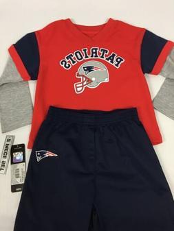 New England Patriots TODDLER 2 Piece Pant-Shirt Set - 4T - N