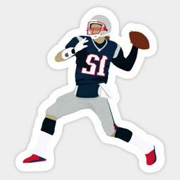 New England Patriots Tom Brady Football Fan Vinyl Decal Lapt