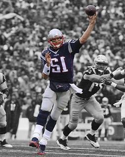New England Patriots TOM BRADY Glossy 8x10 Photo Spotlight F