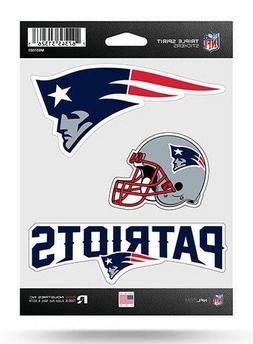 New England Patriots Triple Spirit Sticker Sheet Die Cut Dec