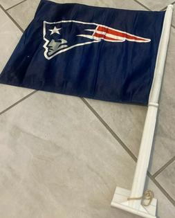 New England Patriots TWO SIDED CAR FLAG * FREE SHIPPING *