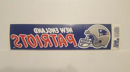 NEW ENGLAND PATRIOTS  Vintage Team Bumper Sticker  Decal Str