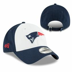 New England Patriots New Era WHITE FRONT Low-Profile Adjusta
