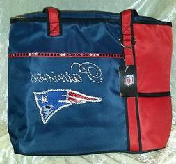 New England Patriots Women's Rhinestone Blinged NFL Tote Pur