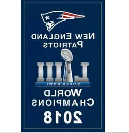 NEW New England Patriots 2018 NFL Super Bowl Champions Banne